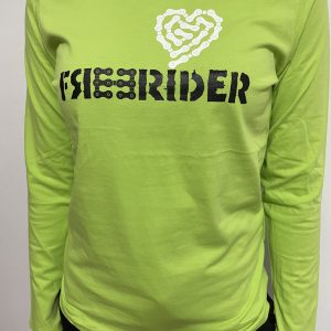 FREERIDER T-Shirt HEART LS Lady, Lime