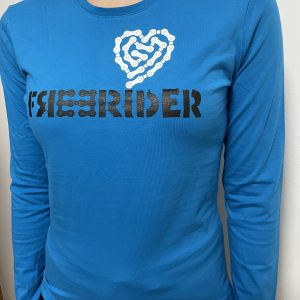 FREERIDER T-Shirt HEART LS Lady, Tropic Blue