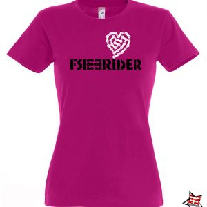 FREERIDER T-Shirt HEART Lady, Fuchsia