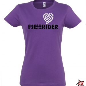 FREERIDER T-Shirt HEART Lady, Purple