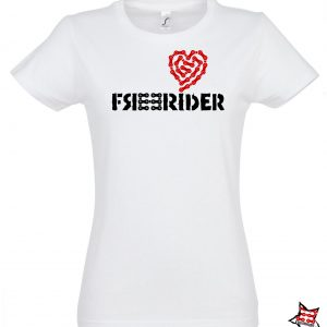 FREERIDER T-Shirt HEART Lady, White